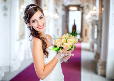 Brautmode Model